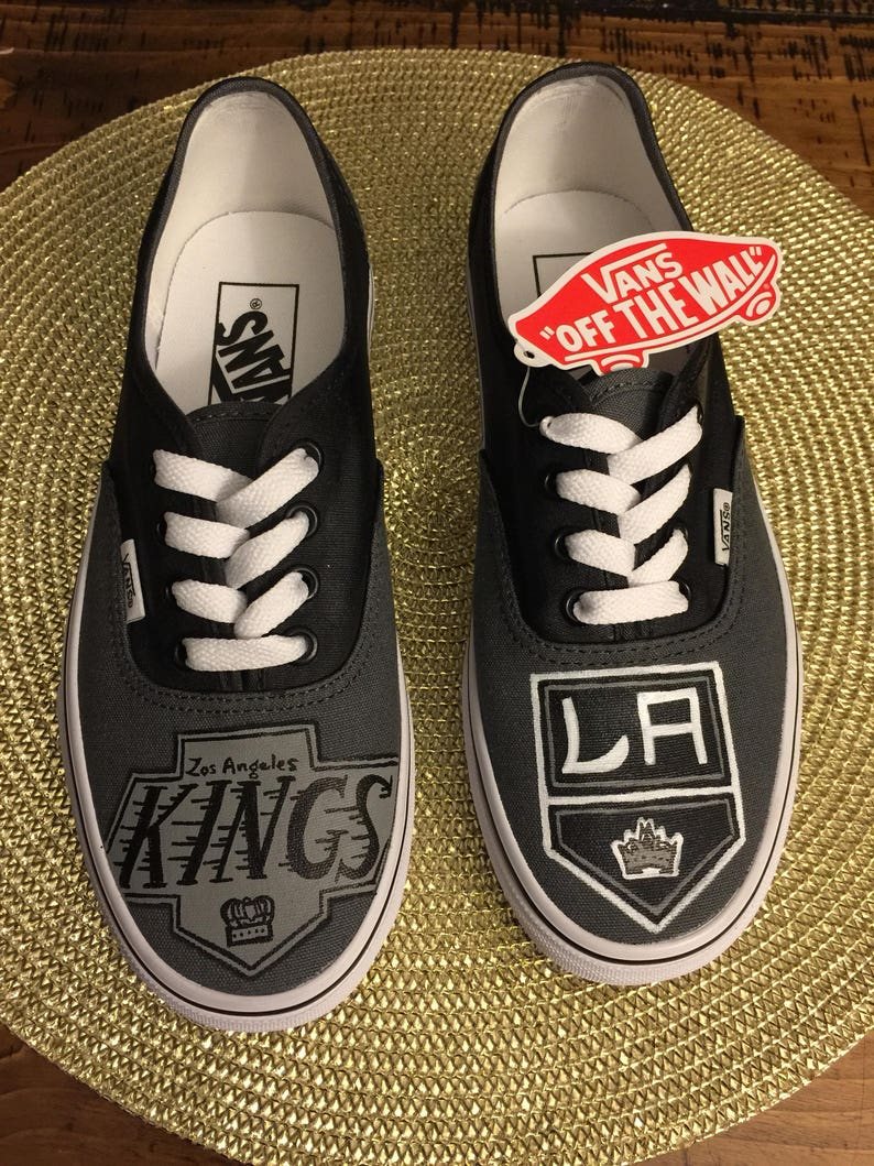 d5608c9c2e LA Kings Adult Custom VANS Shoes