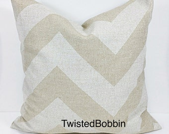 PILLOW COVER. 24x24 Pillow Cover. Beige Pillow Cover.  Pillow cover. Zippy. Oatmeal and beige.pillow cover.cushion cover.Pillow case.