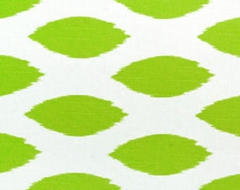 Chartreuse Chipper. Green and white. Premier prints.  Fabric by the yard