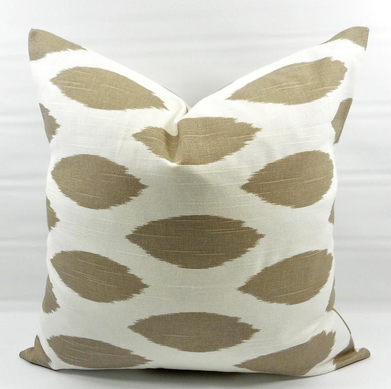 Ecru  /& white Pillow cover in Paris Print Sham Cover Cotton.Select size