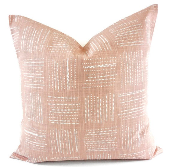 blush pink pillow cover. brave print pillow cover. throw | etsy