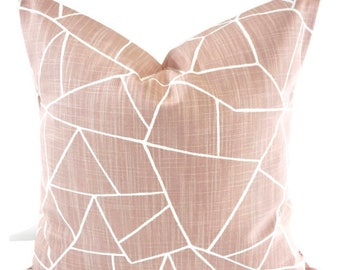 Farmhouse Pillows. Blush pink  pillow cover. Pink Cut Glass  Print Pillow cover. Throw pillow cover. Cotton. Sham Pillow case. Cushion Cover
