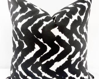Black Pillow Cover. Cosmic Print. Black  & White. Cotton. Black  and white Sham Pillow case.Select your size.
