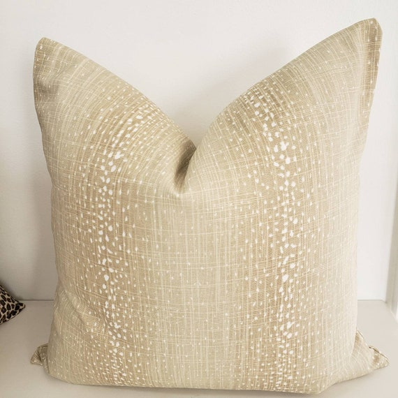 Antelope Pillow Cover Soft Brown Pillow Cover Pawn Print Etsy