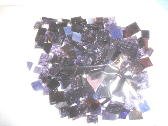34 inch Light Purple Wispy Spectrum Stained Glass Mosaic Tiles Mosaic Crafting  and Art Supplies 25 tiles