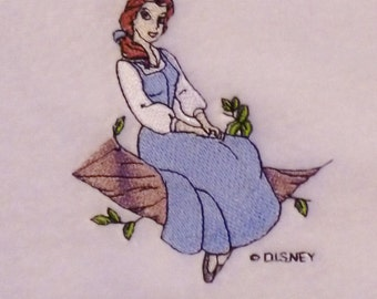 Belle - Beauty and the Beast (74) Embroidered Personalised Fleece Baby Blanket