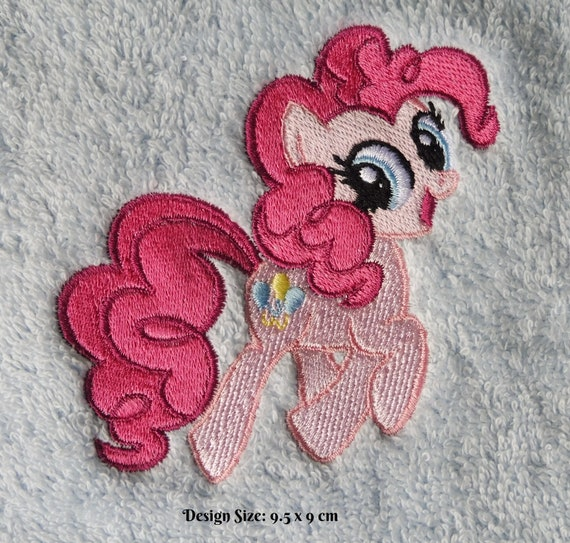 Pinkie Pie My Little Pony Embroidered Personalised Blanket//Towel Gift