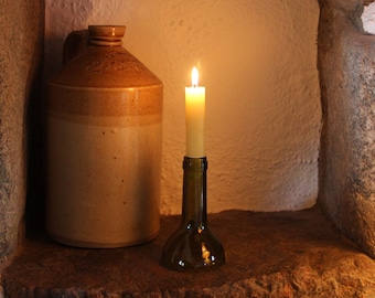 Candlestick. Upcycled from a Wine Bottle.