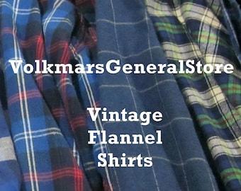 Vintage Oversized Flannel Shirt Flannel Shirts