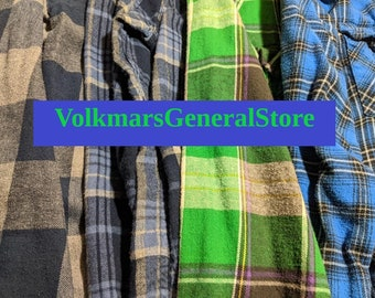 Women's Vintage Flannel Shirt Oversized Boyfriend Boho Grunge Hipster Casual Country Flannel Shirts In Sizes S M L XL 2XL and 3XL