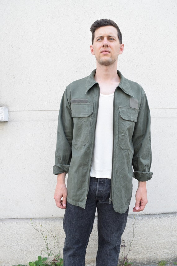 80s French Military Chore Jacket // Cotton Canvas