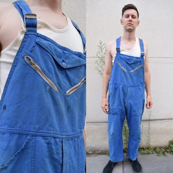 50s 60s French Workwear Overalls // Patched Tradit