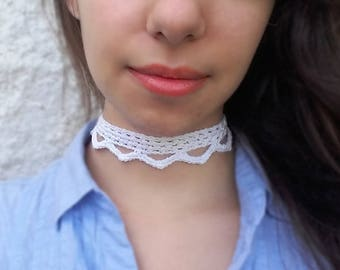 Crochet choker PDF Pattern. Easy level. DIY Lacy choker // ALHAMBRA crochet pattern _ C43