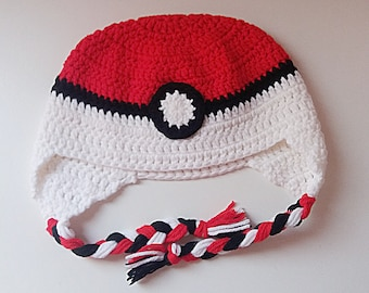 POKEMON earflap hat for kids and adults Crochet Pattern _ M58