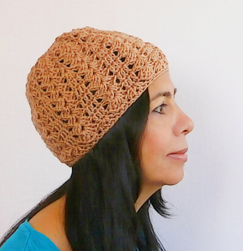 0210e2f650b Lacy crochet hat easy level pattern    Cascade
