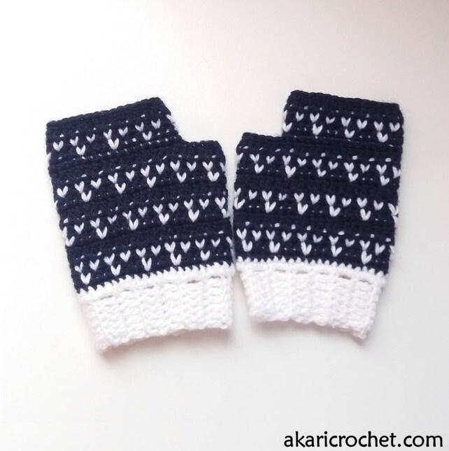 Patrón de guantes de crochet sin dedos// patrón de crochet | Etsy
