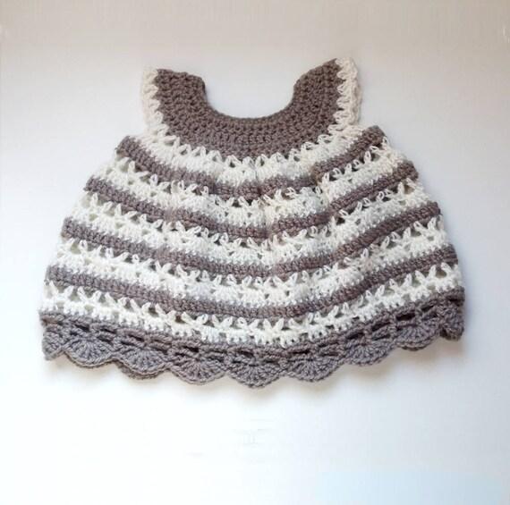 PATRÓN de crochet en Inglés. Vestido para bebé _ M60 | Etsy