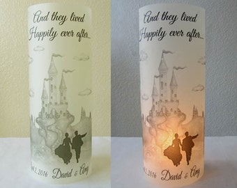 12 Personalized Wedding Centerpiece Luminaries Castle Table Decoration