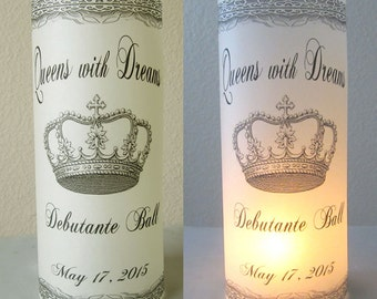 12 Personalized Debutante Ball PartyTable Decoration Luminaries