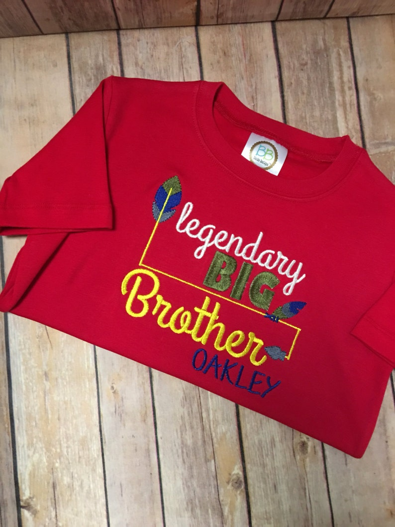 Personalized Big Brother Applique Kids Shirt Kids Clothes Big Brother Embroidery Personalized Big Brother Boutique Shirt  Onesie
