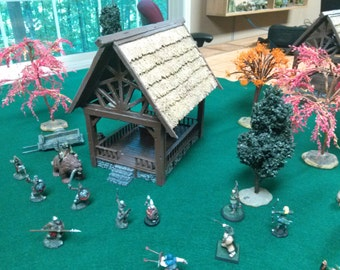 PRE-PAINTED Wayside Temple (resin cast model for tabletop gaming)