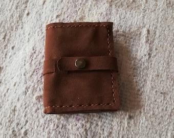 Wearing brown suede cards zipper