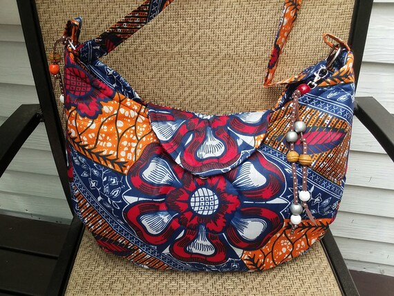 tote bag in waxprint in blueturquoise