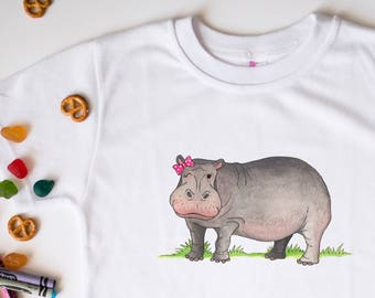 Hippo, Hippo Gifts, Cute Kids Clothes, Cute Toddler Clothes, Unique Kids Clothes, Kids tshirt, Hippopotamus, Jungle Party, Safari Party