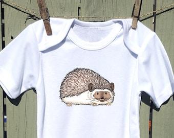 Hedgehog Bodysuit, Hedgie, Cute Baby Bodysuit, Unique Baby Clothes, Animal Baby Clothes, Kids Clothes, Baby animal, Baby girl, Baby boy