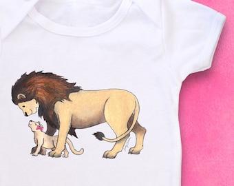 Cute Baby bodysuit, Unique Baby clothes, Lion baby shower, Lions, Lion baby, Zoo Baby shower, Animal Baby Clothes, Zoo Animal Baby, Gift