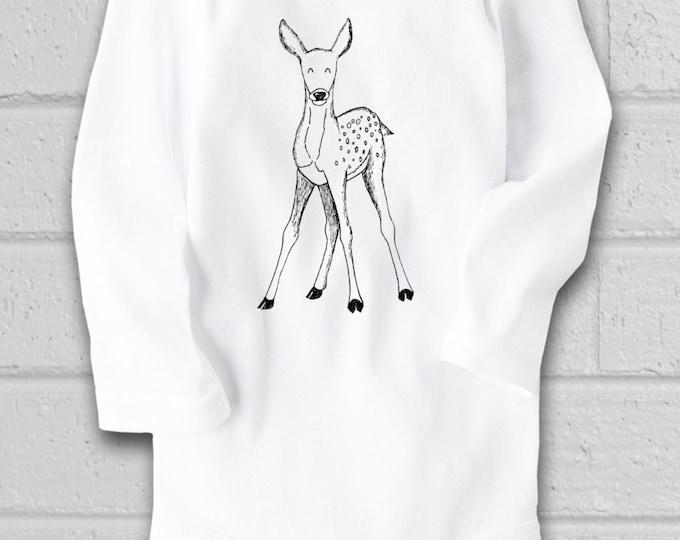 Deer baby shower Deer Baby Clothes Woodland Baby Deer bodysuit Animal Baby Clothes Unique Baby clothes Cute Baby bodysuit