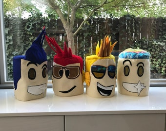 Roblox Head Mask Costume For Kids Ages 4 Custom Mouth Skin Etsy