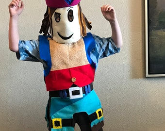 Roblox Body Costume For Kids Ages 4 Custom Made To Order Etsy