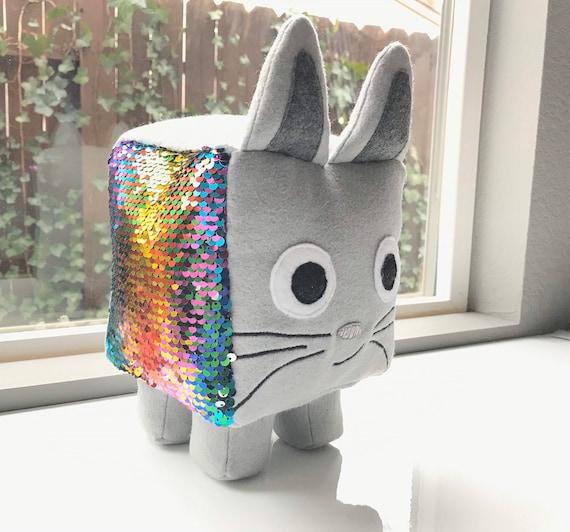 Custom Roblox Pet Simulator Reversible Sequin Rainbow Cat Etsy