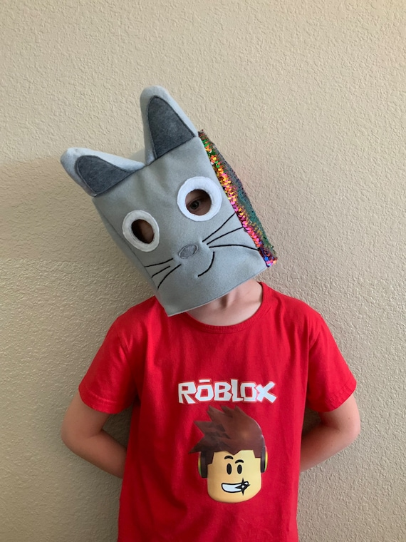 Custom Roblox Pet Simulator Mask Cat Or Rainbow Cat Without Etsy