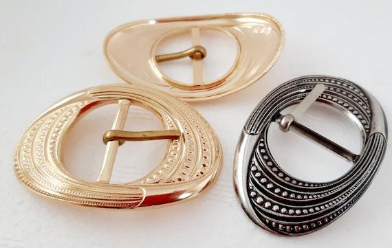 Vintage Belt Buckle For Sewing Retro Belt Buckle Buckle For Purse Buckle For Dress 60mm Oval Belt Buckle Silver Belt Buckle