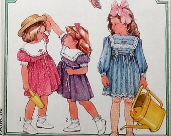 "Vintage 80's Simplicity Girls' Cinderella Dress Pattern #7980 - Size 5, 6, 6x (Breast 24""-25 1/2"") - UNCUT Factory Folded"