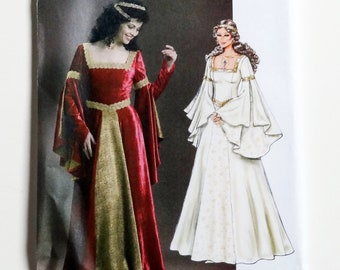 4bb61571070 Butterick Ladies Renaissance Costume Pattern  B4571 - Sz AA(6-12) or  EE(14-20) - Fitted Floor Length Princess Dress Costume - UNCUT F F