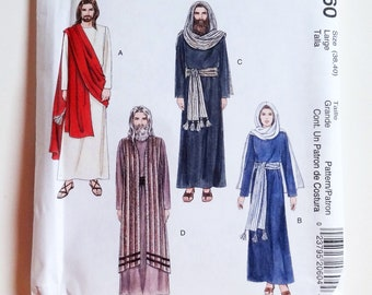 Adult Passion Of Christ Sewing Pattern McCallu0027s Costume #2060 Sz Med  (34 36) Or (Large 38+40)   UNCUT F/F