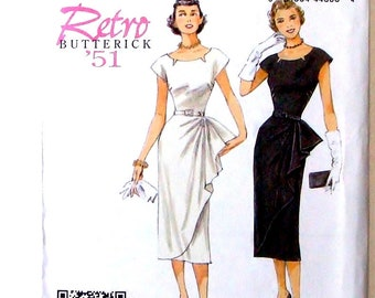 Retro '51 Butterick Misses Dress & Belt Pattern #B5880-Sz A5(6-14) - UNCUT F/F