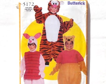 Butterick Toddler/Childu0027s Full Body Pooh Bear Piglet u0026 Tiger Character Costumes Pattern #5172 - Size S(1-2) + M(3-4) + L(5-6) UNCUT F/F  sc 1 st  Etsy & Butterick 5172 Toddlers - Childrenu0027s Disney Winnie the Pooh Tigger ...