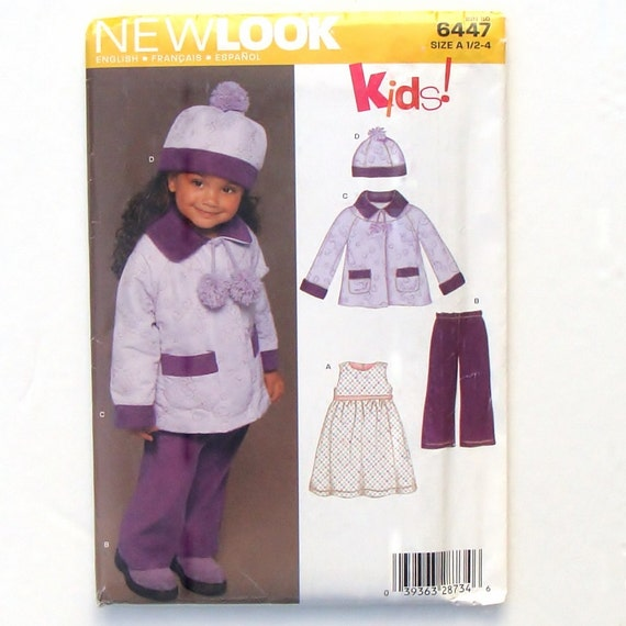 Simplicity Sewing Pattern 2526 Girls Boys Toddlers Coat Jacket Pants Size 1//2-4