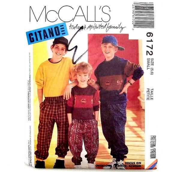 McCall\'s Boys\' Tops und Hosen Schnittmuster 6172