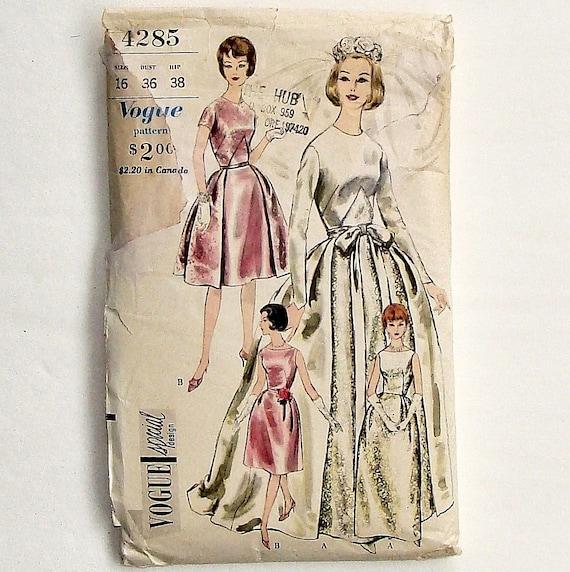 Vintage 60s Vogue Bride Or Bridesmaid Dress Sewing Etsy