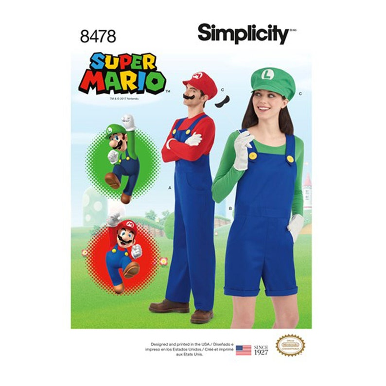 Super Mario Costume Pattern for Adults and Teens