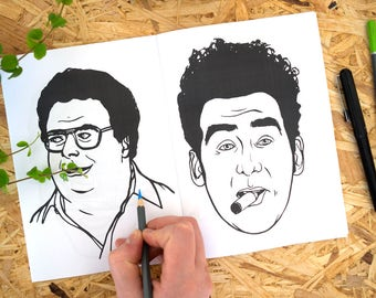 Seinfeld Colouring Book Pages George Costanza Larry David Adult Coloring