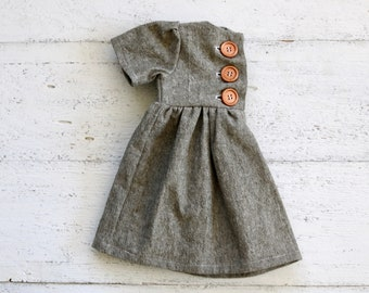 Olive Green Linen Baby Dress | Infant Sleeved Dress | Button Toddler Girl  Dress | Girls Winter Clothes | Christmas Dress | Baby Outfit