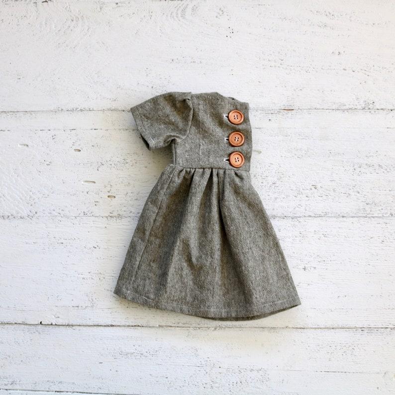 Olive Green Linen Baby Dress Infant Sleeved Dress Button Etsy