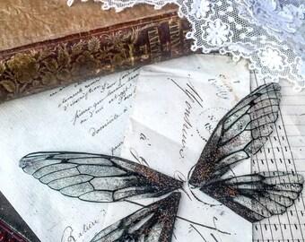 NEW black faerie wings
