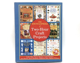 ENCYCLOPEDIA of Two-Hour CRAFT PROJECTS is a Hard Cover 512 page Condensed Collection from 7 of Chapelle Ltd's 2-Hour Craft Project Books